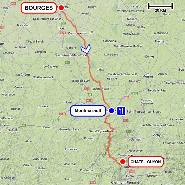 Tracé - 2ème étape du PARIS - CÔTE BASQUE 2013