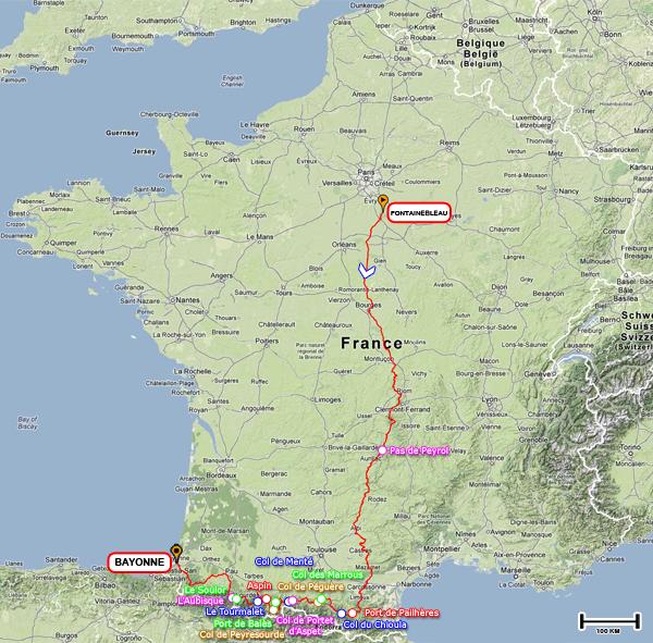 PARIS / FONTAINEBLEAU - BAYONNE du 12 au 21 juin 2013