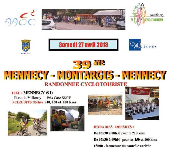 Affiche de Mennecy-Montargis-Mennecy 2013