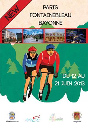 Plaquette du PARIS-FONTAINEBLEAU - BAYONNE 2013